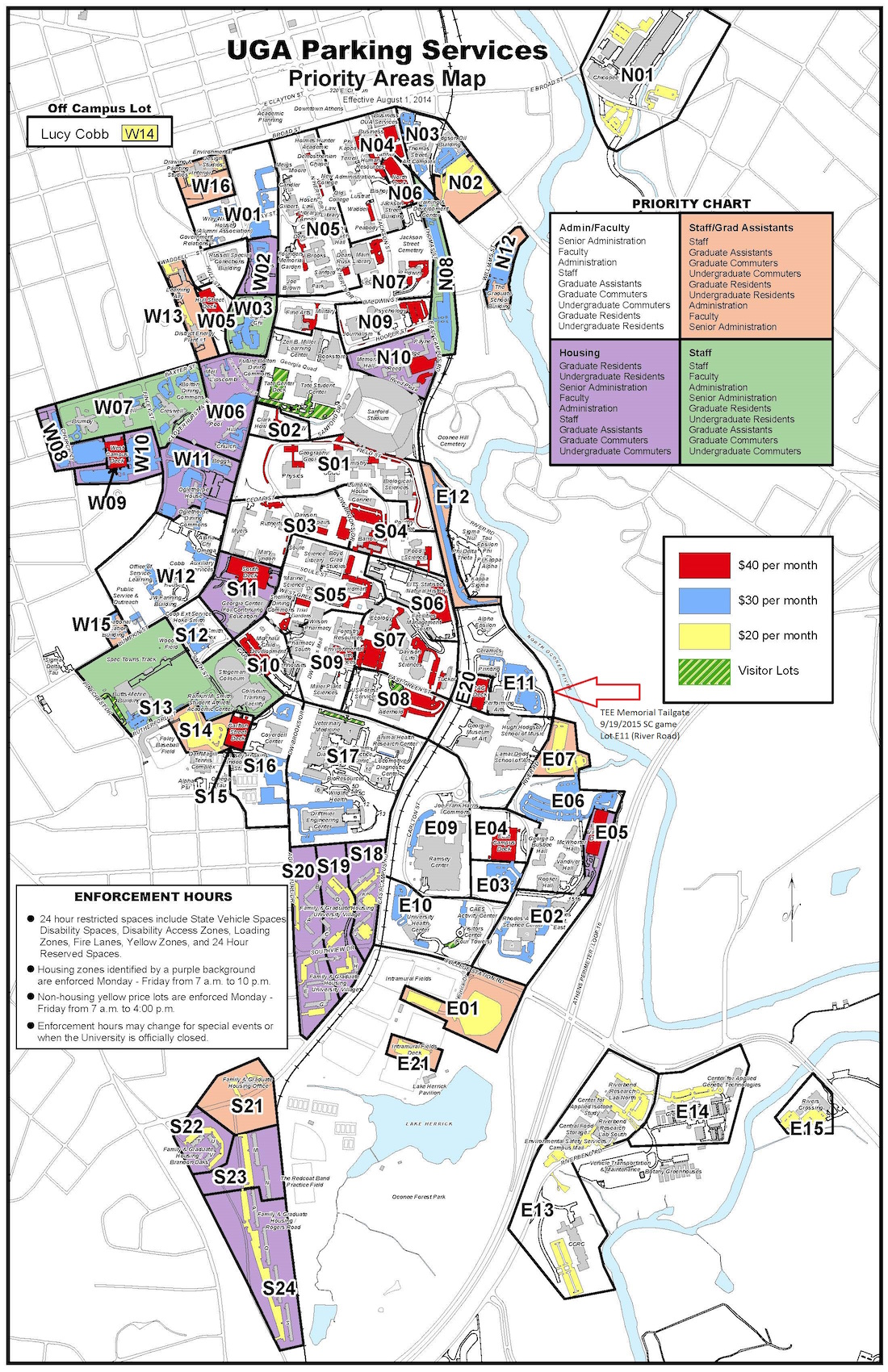 Uga Campus Map With Building Numbers.Uga Parking Map Cyndiimenna
